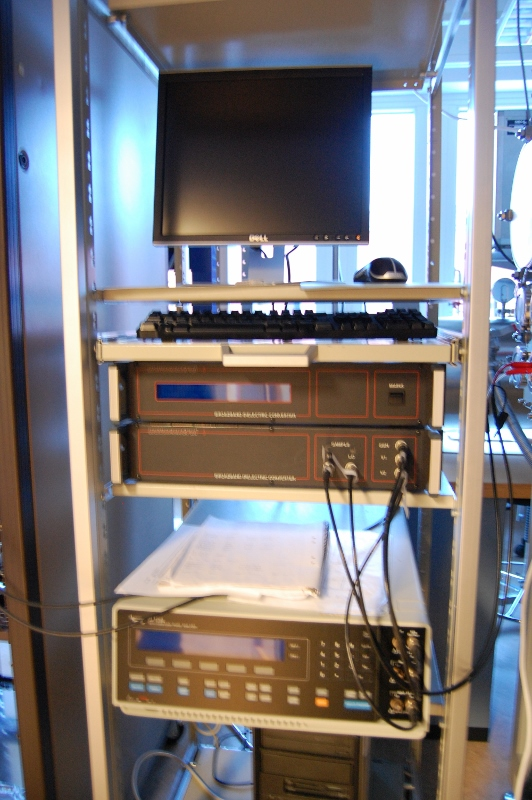 Picture of Impedance spectroscopy setup - Dielectric interface