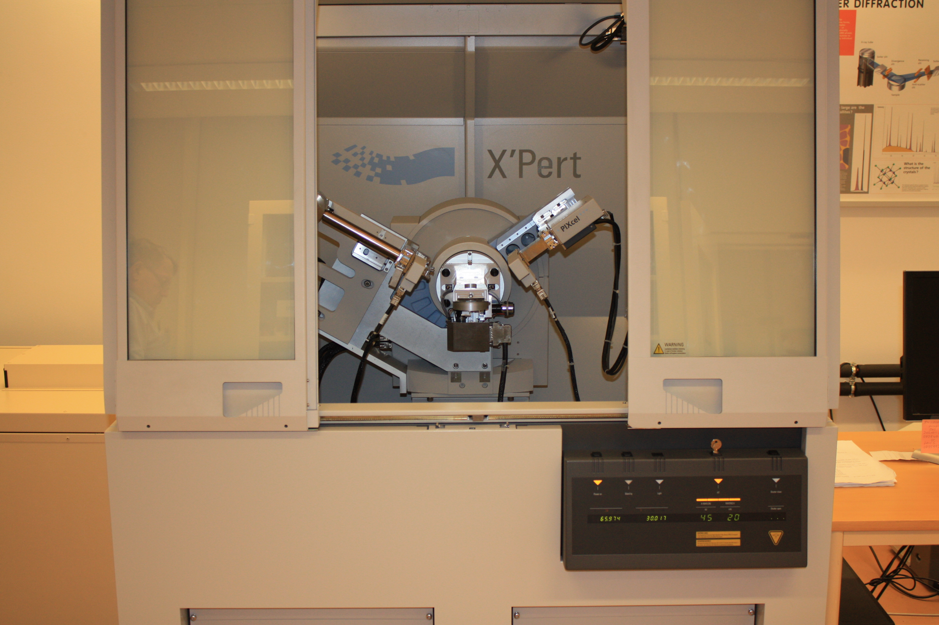 Picture of Alpha powder diffractometer (window, right)