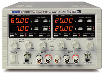 Picture of DC power supply, TTi CPX400DP